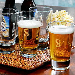 Personalized Beer Pint Glasses