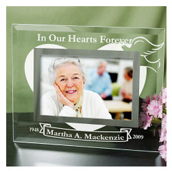 In Our Hearts Forever Glass Picture Frame