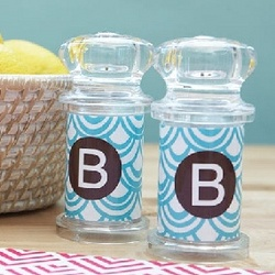 Personalized Salt and Pepper Shaker Set