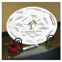 Palm Tree Guest Book Platter