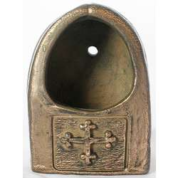 St. Brigid Bronze Holy Water Font