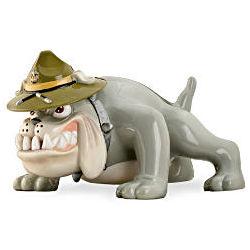 USMC Devil Dog Sculptural Accent Lamp