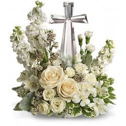 Divine Peace Bouquet with Crystal Cross