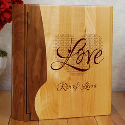 Love Personalized Wood Photo Album