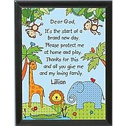 Personalized Thank You God Plaque
