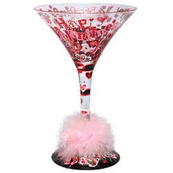 Happy Valentine's Day Martini Glass