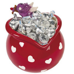 Heart-Shaped Candy Dish with Cupid