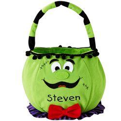Personalized Cheerful Frankenstein Halloween Basket