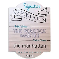 Personalized Signature Cocktail Sign