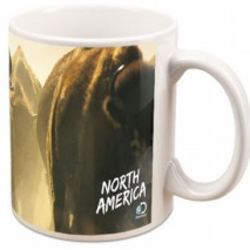 North America Bison Stampede Mug