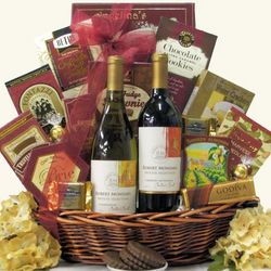 Robert Mondavi Private Selection Classic Duet Wine Gift Basket
