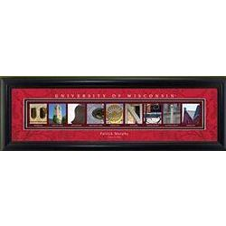 Personalized Wisconsin Badgers Architectural Framed Print