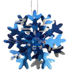 Bud Light Snowflake Christmas Ornament