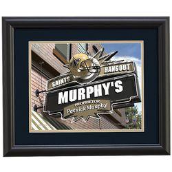 Personalized New Orleans Saints Pub Print