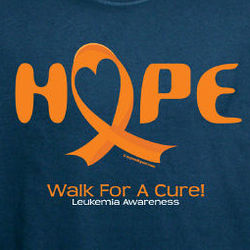 Personalized Walk For a Cure Leukemia Awareness T-Shirt