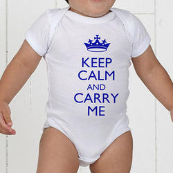 Keep Calm Personalized Baby Bodysuit