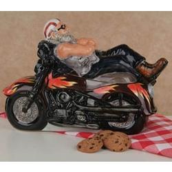 Motorcycle Ceramic Cookie Jar