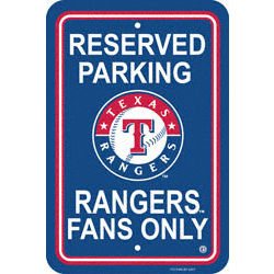 Texas Rangers Parking Signs
