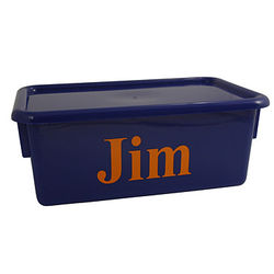 Personalized Stowaway Container with Lid