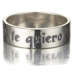 """Te Quiero Con Toda Mi Alma"" Spanish Soul Ring in Sterling"