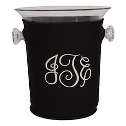 Personalized Ice Bucket in Black