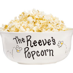 Large Ceramic Popcorn Bowl