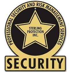 Personalized Gold Star Security Sign