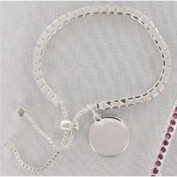 Engraved Birthstone Bracelet