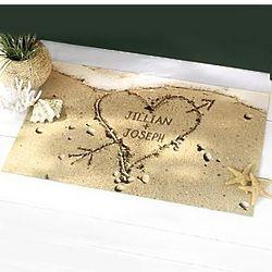 Personalized Sand Heart Doormat