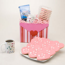 Cookies and Coffee Lovers Valentine's Day Gift Basket