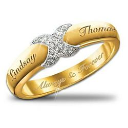 Everlasting Kiss Couple's Personalized Diamond Ring
