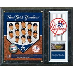 New York Yankees 2012 Team Plaque