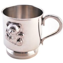 Pewter Teddy Bear Cup