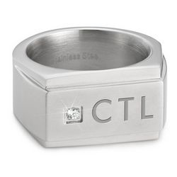 Men's Stainless Steel Signet Ring