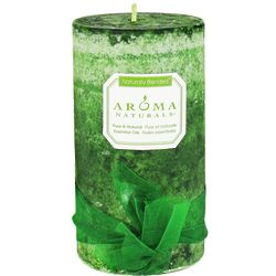 Evergreen Holiday Eco-Friendly Pillar Candle