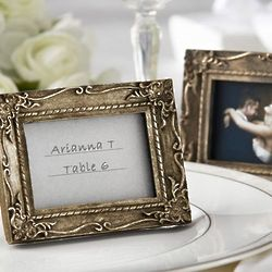 Antique-Finish Place Card Holder and Photo Frame