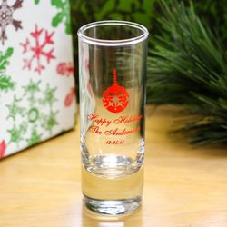 Holiday Personalized Double Shot Glass