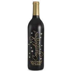 Cabernet Congratulations Etched Wine Bottle