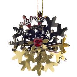 Miller Genuine Draft Snowflake Christmas Ornament