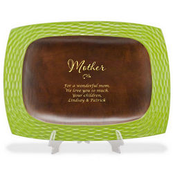 Mom's Personalized Eco-Friendly Wooden Tray
