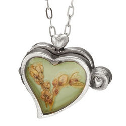 Pressed Flower Heart Locket