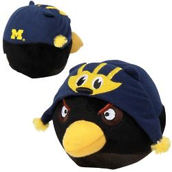 Michigan Wolverines Black Angry Bird Plush