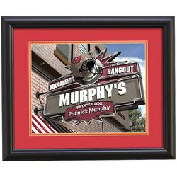 Personalized Tampa Bay Buccaneers Pub Print
