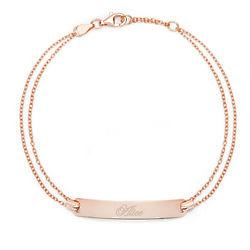 Personalized Name Bar Rose Gold Bracelet