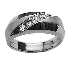 Mens 1/3 Ct Diamond Channel Set Ring