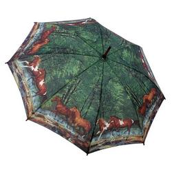 Spring Creek Run Horse Umbrella