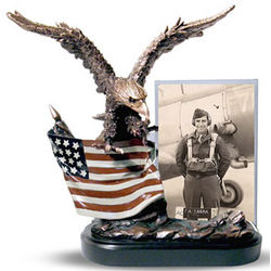 Eagle Sculpture with Photo