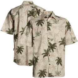 Coconut Trees Sand Button-Up Hawaiian Shirt