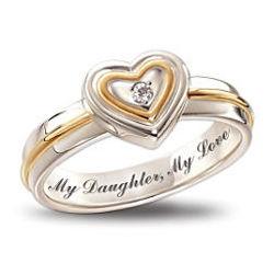 """My Daughter, My Love"" Inscribed Diamond Ring"