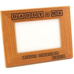 Daddy & Me Square Corner Alder Photo Frame